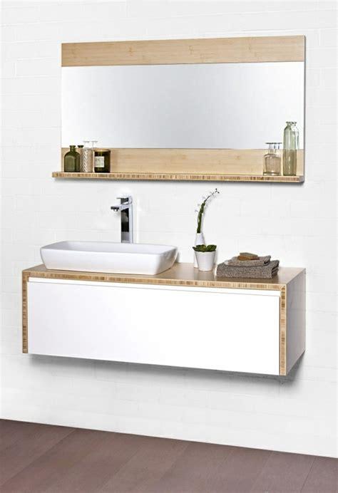 Badezimmer Unterschrank Regal bambus badm 246 bel sorgen f 252 r eine zen atmosph 228 re im modernen