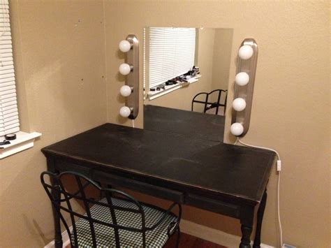 Handmade Vanity Table - diy makeup mirror with lights makeup vidalondon