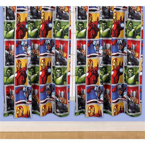 superhero curtains marvel official avengers marvel comics bedding bedroom
