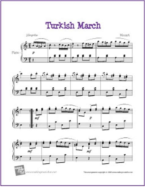 tutorial piano turkish march turkish march mozart free sheet music for piano flickr
