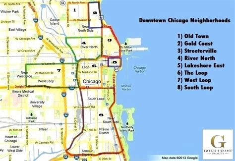 printable chicago area map map of downtown chicago north central neighborhoods map of