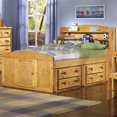 captains bed with bookcase headboard trendwood bunkhouse twin bookcase headboard captain s bed