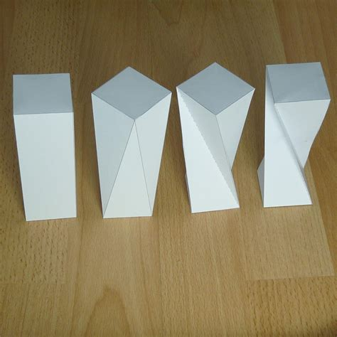 Rectangular Prism Origami - paper twisted rectangular prism rectangular antiprism