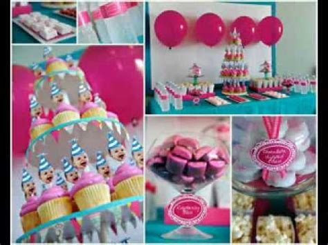 1st Birthday Party Decoration Ideas At Home by One Year Old Birthday Party Ideas Youtube