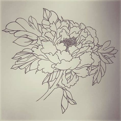 18 latest peony tattoo designs