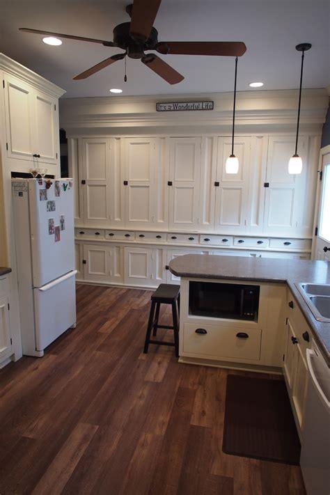inspired vinyl plank flooring  kitchen farmhouse