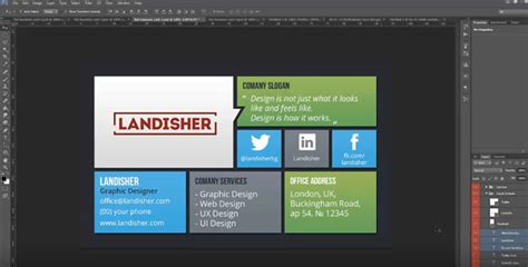 carding tutorial video flat corporate personal business card landisher
