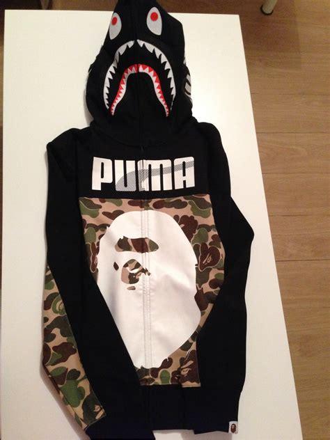 Jaket Bape Hoodie A Bathing Ape 7 x bape shark hoodie a bathing ape camo size l