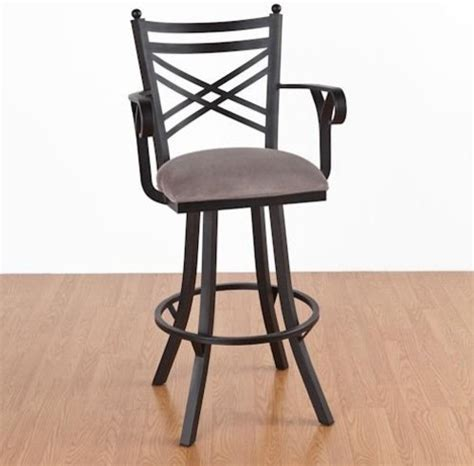 Kitchen Bar Chairs With Arms New Rochelle 30 In Bar Stool With Arms Swivel