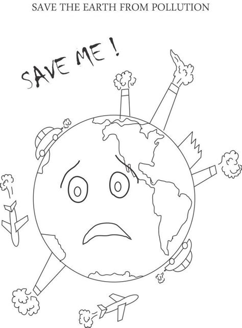 Pollution Printable Coloring Page For Kids Earth Day Pages Air 5 Coloring Page