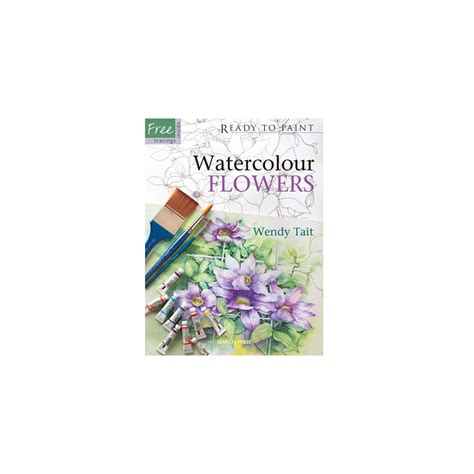 beginner s guide to botanical flower painting books ready to paint watercolour flowers search press from
