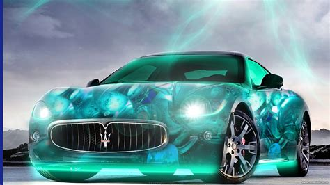 maserati teal cool 3d wallpaper hd cars wallpapersafari
