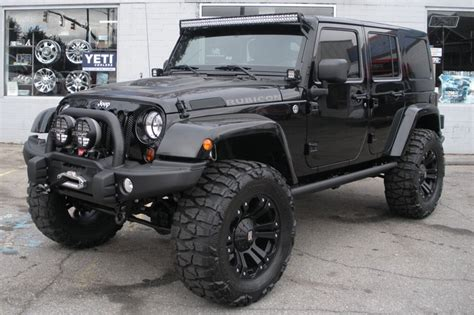 2013 custom black jeep wrangler unlimited rubicon for sale