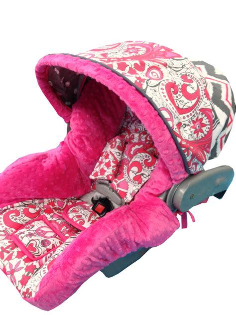 pink and gray car seat covers and peace infant car seat cover floral gray pink