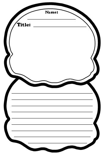 scoop template color poems shaped writing templates