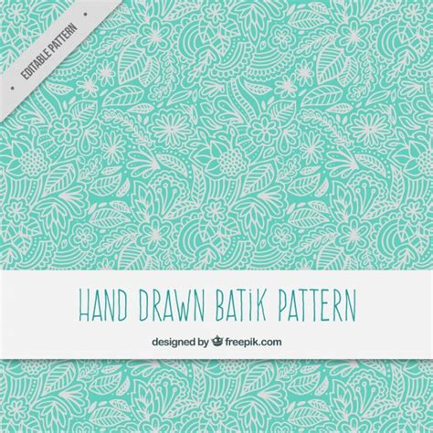 wallpaper batik bali hand drawn floral ornamental batik pattern vector free