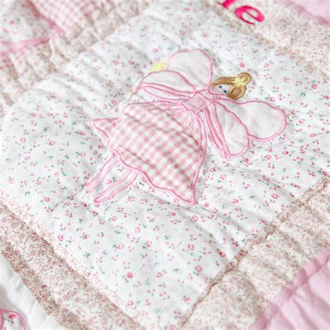 Baby Patchwork - personalised patchwork baby quilt by my 1st years