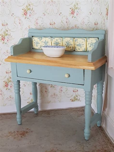 miniature shabby chic washstand miniatures made with love
