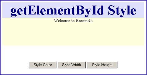 javascript tutorial roseindia javascript getelementbyid style