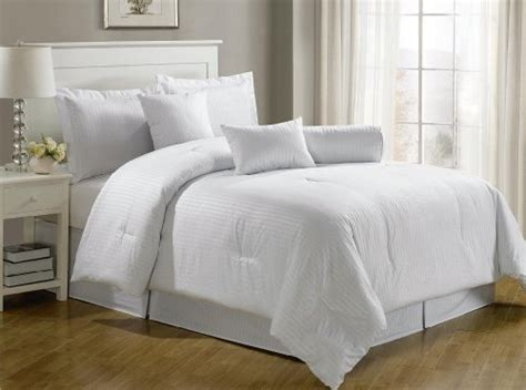 white bedroom comforter sets chezmoi collection 7 piece hotel dobby stripe comforter