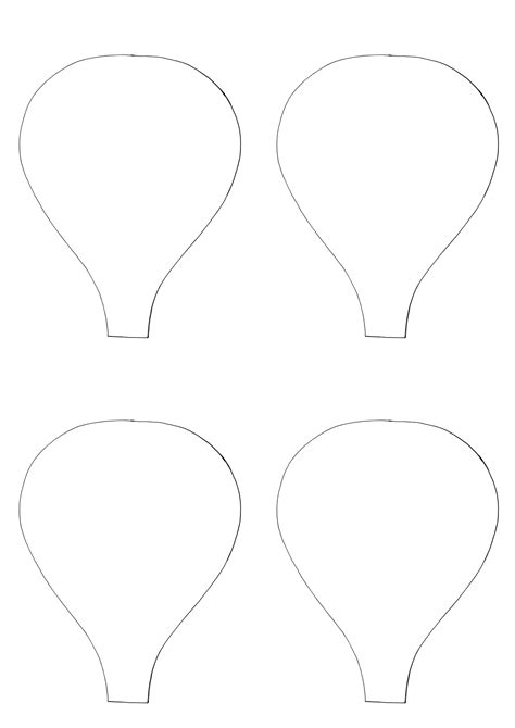 air balloon templates free best photos of simple air balloon template air