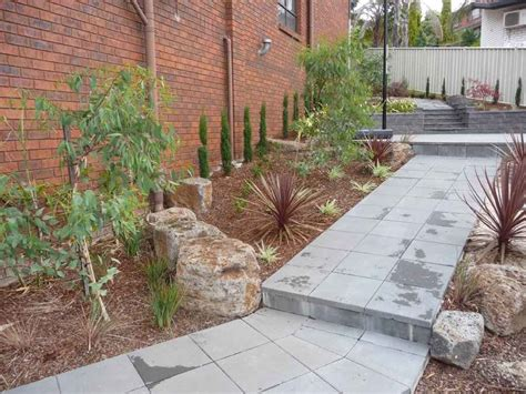 Landscaping Blocks Ideas Landscaping Steep Blocks With Boulders And Masonry Retaining Walls