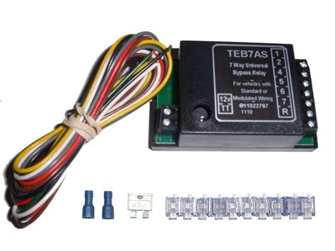 universal 7 way bypass relay towing electrics towbar for