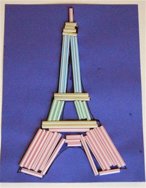 eiffel tower crafts for eiffel tower craft what can we do with paper and glue