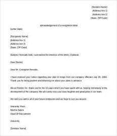 Resignation Letter For Hr Recruiter 33 Acknowledgement Letter Templates Free Sles