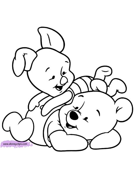 baby pooh coloring pages disney coloring book