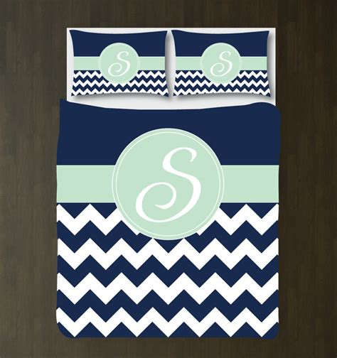 navy blue chevron bedding navy blue mint white chevron duvet cover bedding