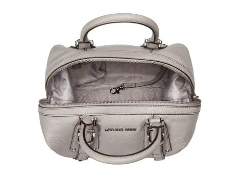 Michael Kors Tweed And Patent Belted Satchel by Michael Michael Kors Bedford Belted Medium Satchel Pearl