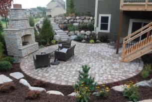 Retaining Wall Patio Ideas by Retaining Wall Stairs Leading To Patio Below By Walkout