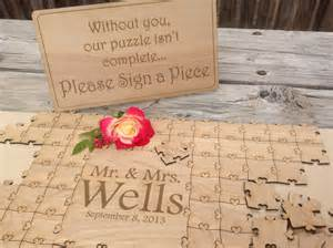 Guest Book Ideas For Bed And Breakfast Items Similar To 75 Pieces Wedding Puzzle For