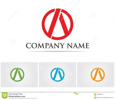 business letter template vector a letter logo business template vector icon stock vector