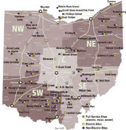 Ohio State Parks Map by Ohio State Parks With Campgrounds Rvnationscott