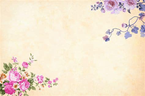 gambar latar belakang cat air bunga berbatasan