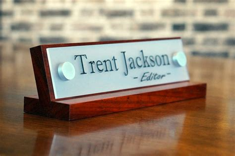 desk name plates office desk name plates brushed metal hardware finish