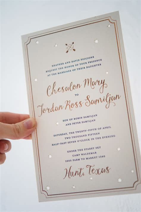 Wedding Invitation Paper Toronto by Gold Foil Sky Wedding Invitations