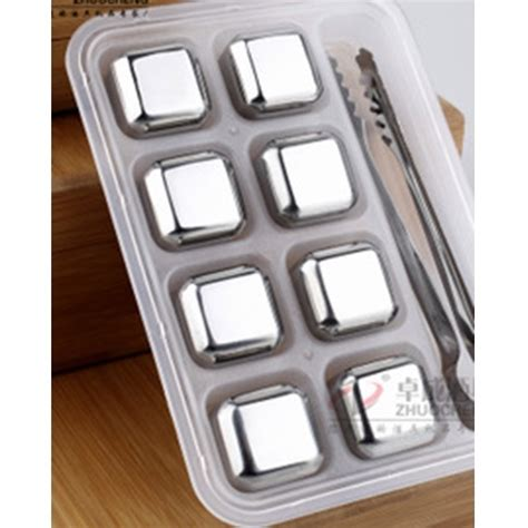 Es Batu Stainless Steel Reusable Cube 4 Pcs reusable stainless steel cube 8pcs es batu stainless jakartanotebook