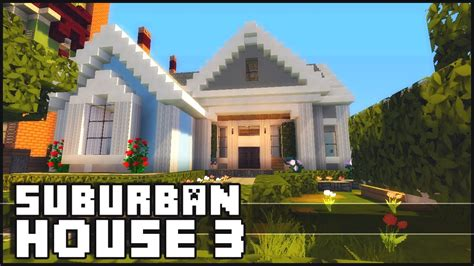 suburban house minecraft small suburban house 3 youtube