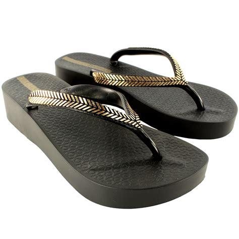 flip flop sandals womens ipanema wedge slip on summer