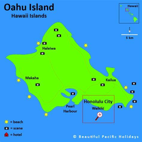 map of islands map of oahu island in the hawaiian islands