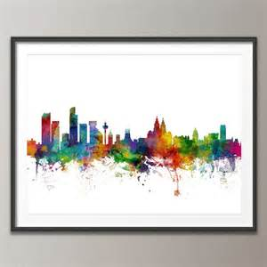liverpool england city skyline by artpause