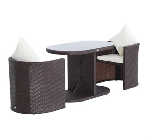 wicker patio table and chairs outsunny 3pc table and chair rattan wicker patio furniture set