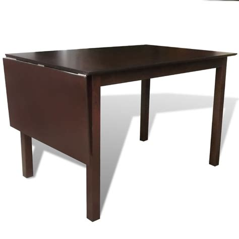 Extending Wooden Dining Table Vidaxl Co Uk Solid Wood Brown Extending Dining Table 150 Cm