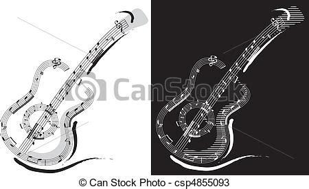 imagenes de guitarras blanco y negro vectores de guitarra emblema aislado en blanco y