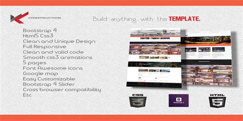 bootstrap templates for construction wkt construction bootstrap 4 template business html