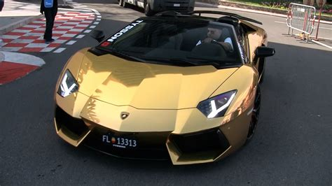 gold convertible lamborghini gold lamborghini aventador roadster youtube