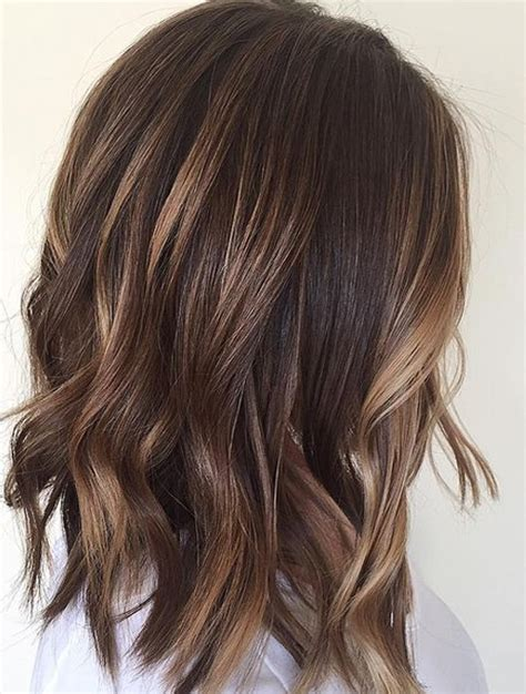balayage dark brown hair with blonde highlights delicate balayage for short length hairstyles 2017 dark